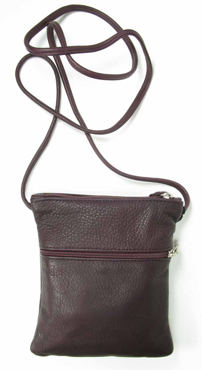 Small Leather Swing Pack in Dark Chocolate