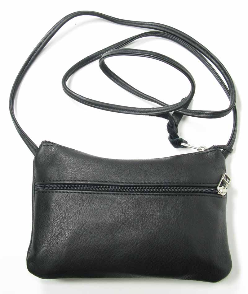 Small Leather Handbag in Black