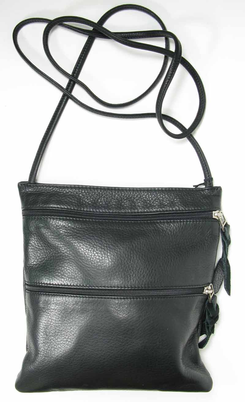 Leather Swing Pack in Black