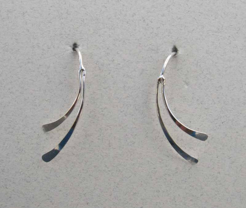 Curved Sterling Earrings
