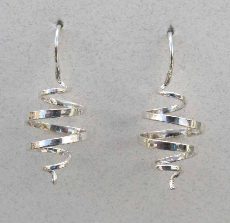 Round Swirled Sterling Earrings