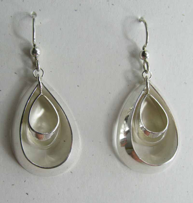 Broad Oval Hoops in Sterling Silver