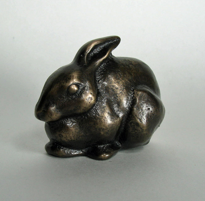 Bronze Rabbit - Seated
