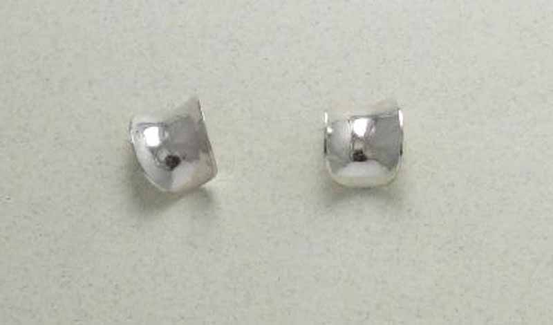 Small Chip Post Earrings in Sterling Silver