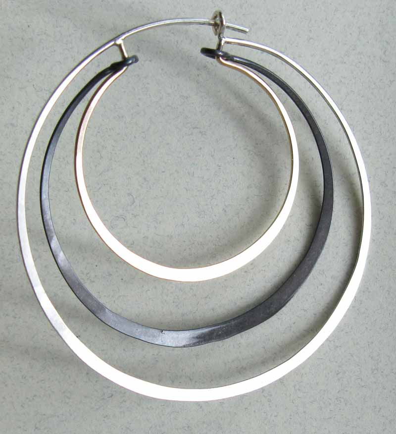 Tri-Colored Layered Hoops