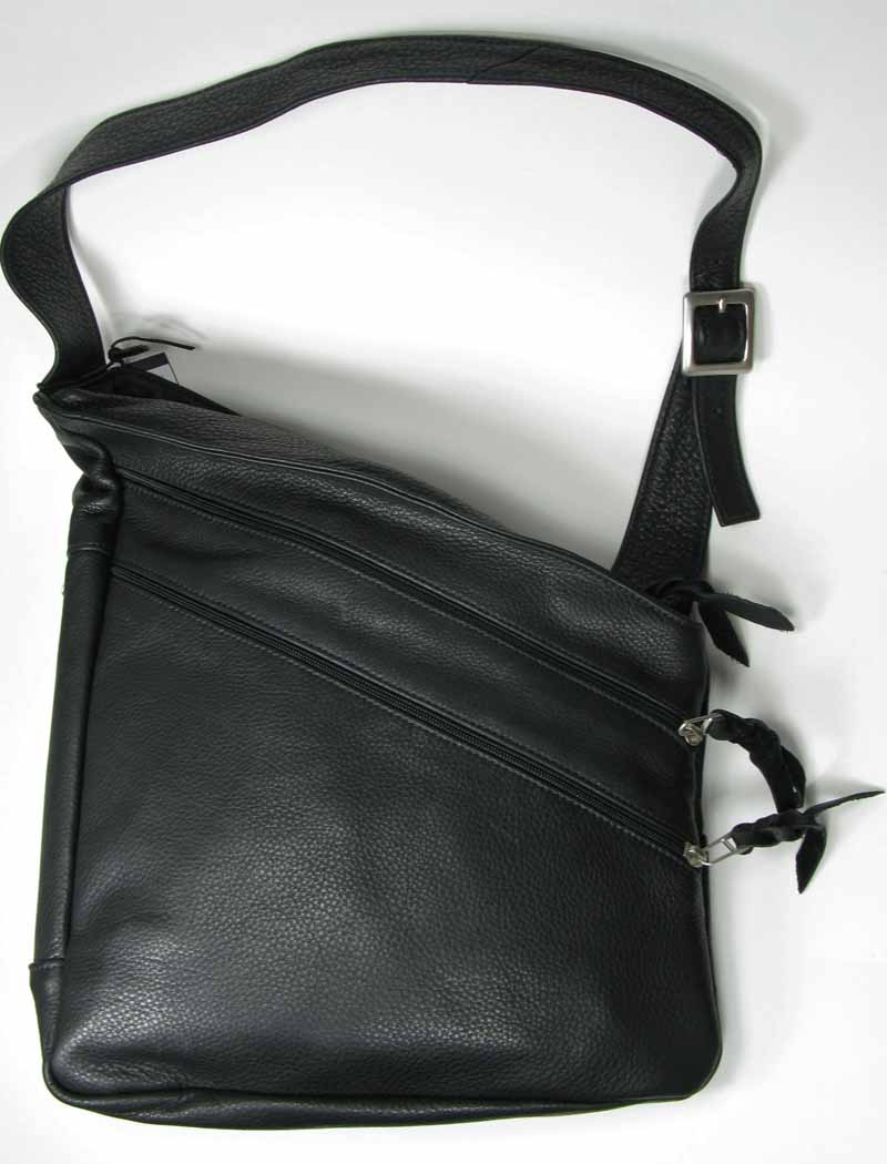 Assymetrical Leather Sling Bag