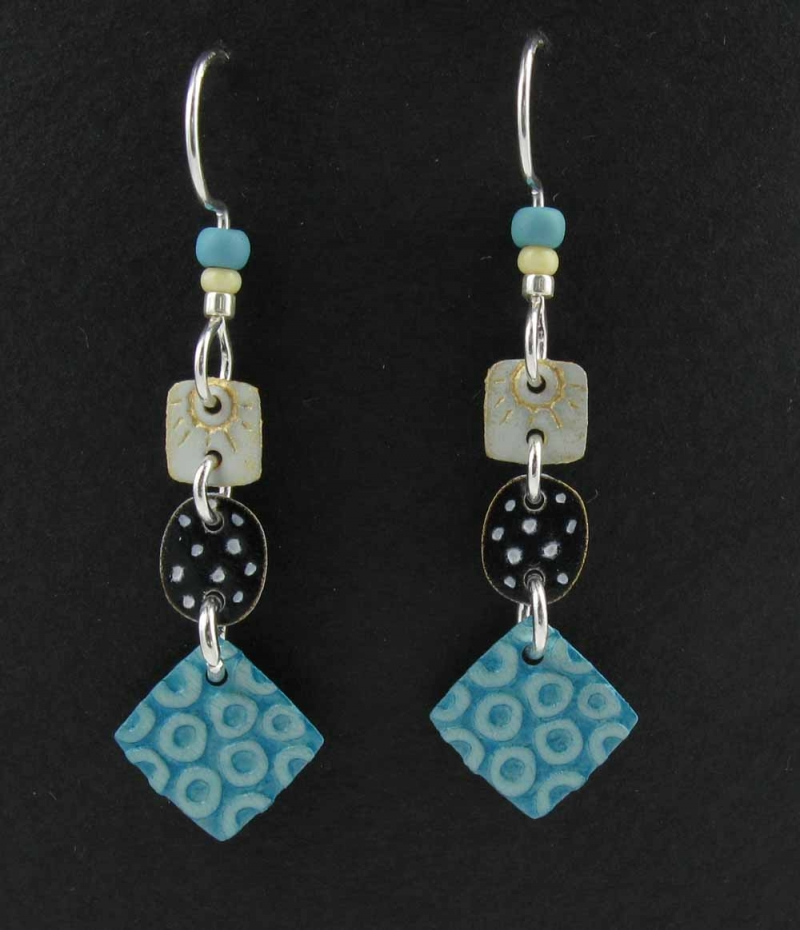 Three parts with square earrings