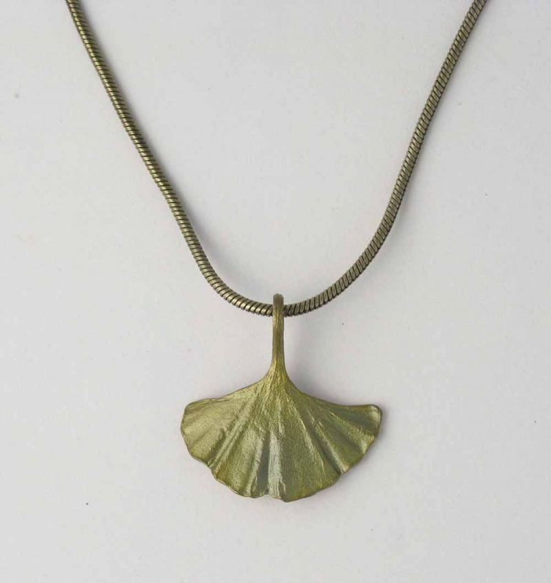 Ginkgo Single Leaf Necklace
