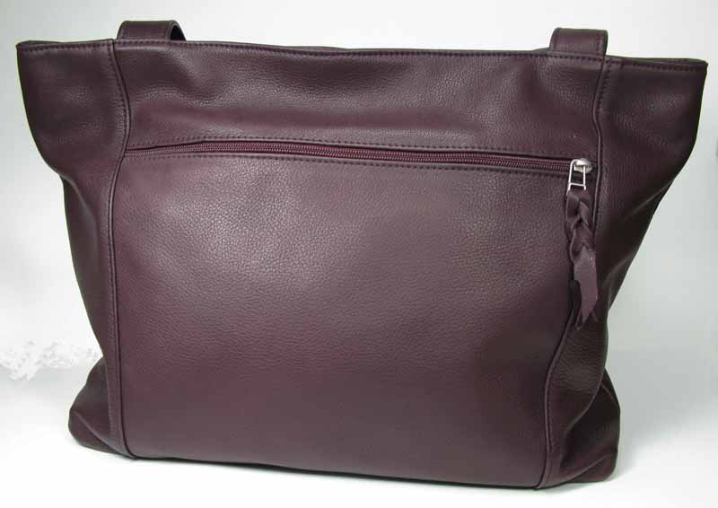 Leather Tote in Dark Chocolate
