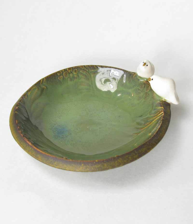 Bird Accessory Bowl in Moss