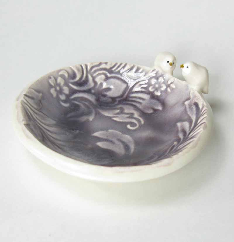 Bird Accessory Bowl in Purple