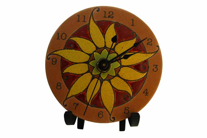 Clock in Porcelain - Mexican Sun