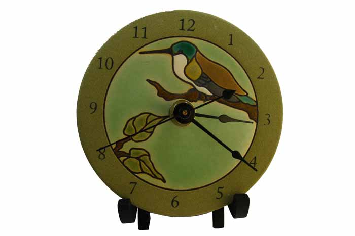 Clock in Porcelain - Hummingbird