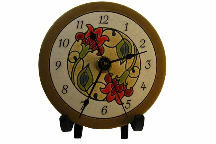 Clock - Jacobean Flowers