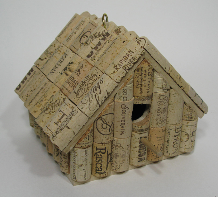 Cork Birdhouse by Jon Bakus