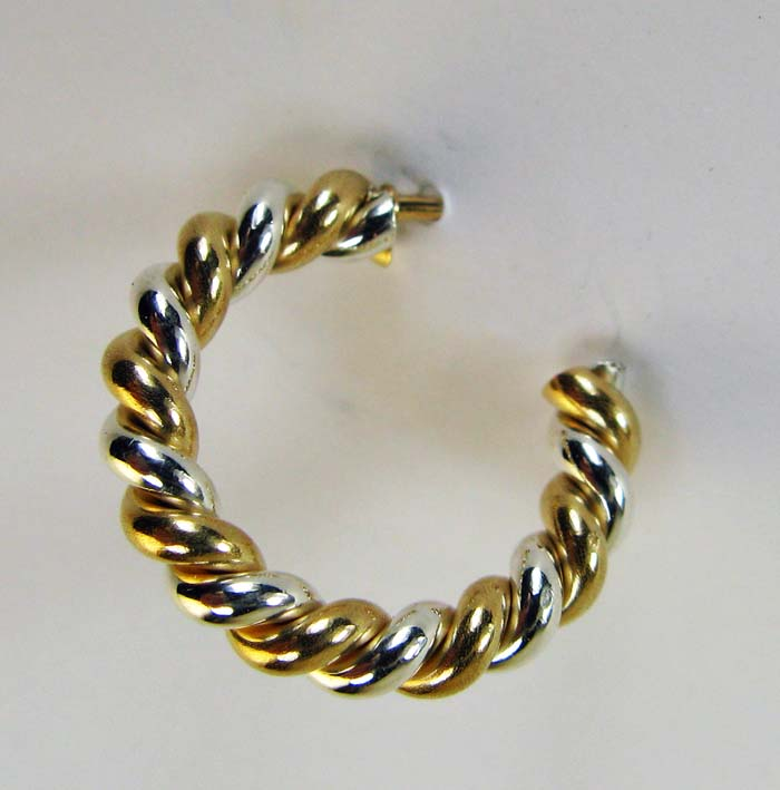 Hoop Earrings in Mixed Metal