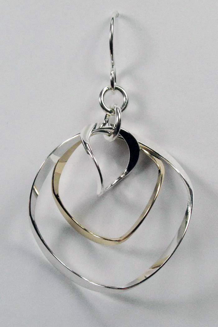 Earrings - 3 Rings with Wobble