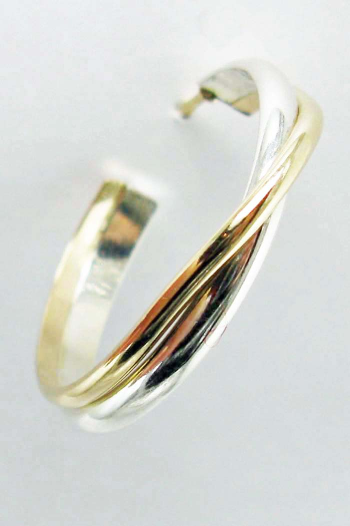 Medium Gold and Silver Hoops