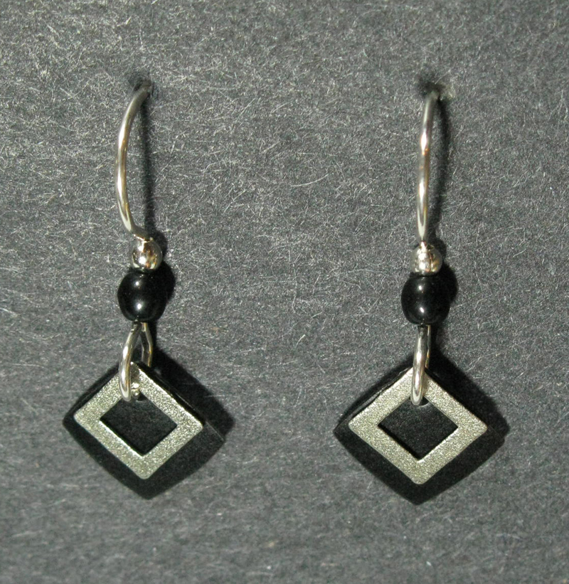 Small Layered Squares Earrings