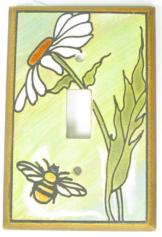Daisy Bee Switch Plate