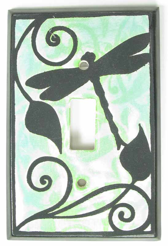 Dragonfly Silhouette Switch Plate