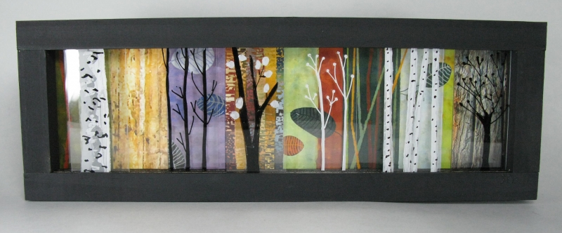 Desk Art Slider Hand-painted Trees Color- Color