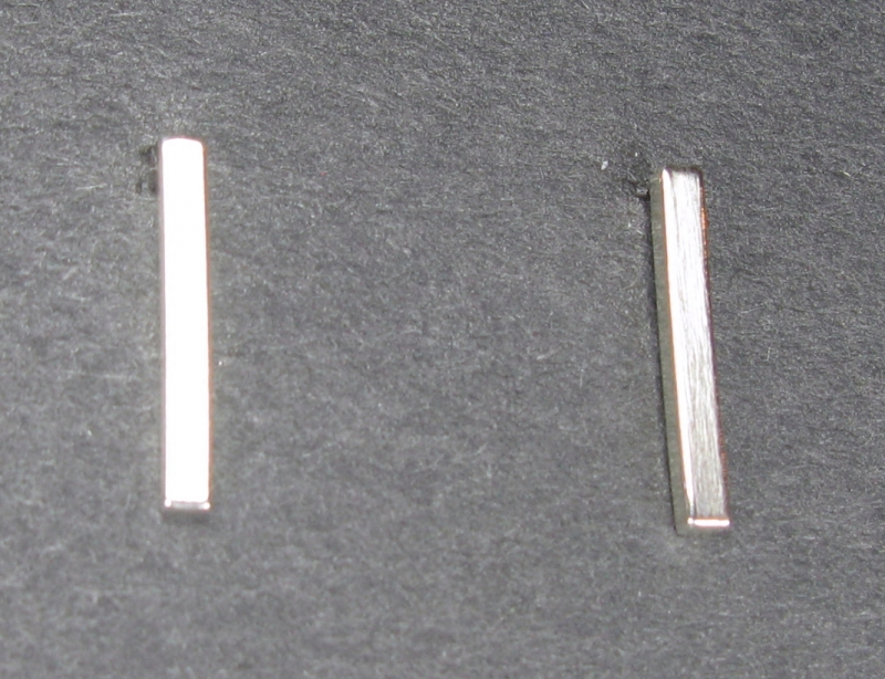 Silver Bar Post Earrings