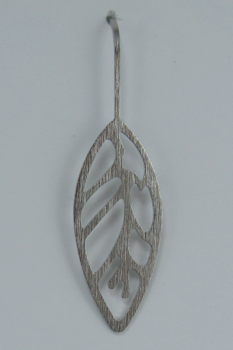 Leaf Earrings in Stainless Steel