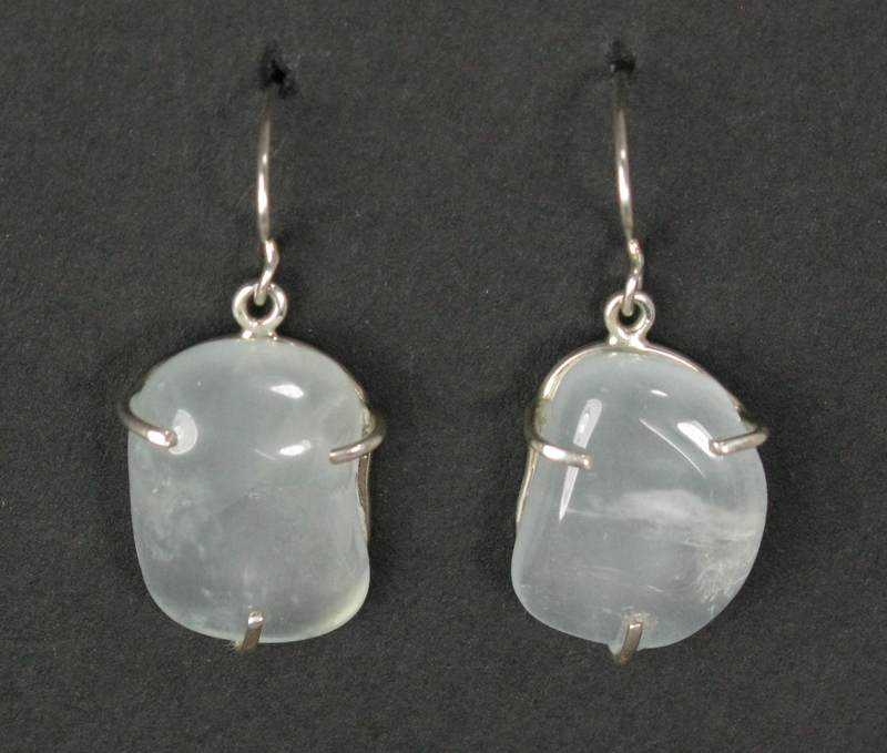Aquamarine in the Rough Earrings