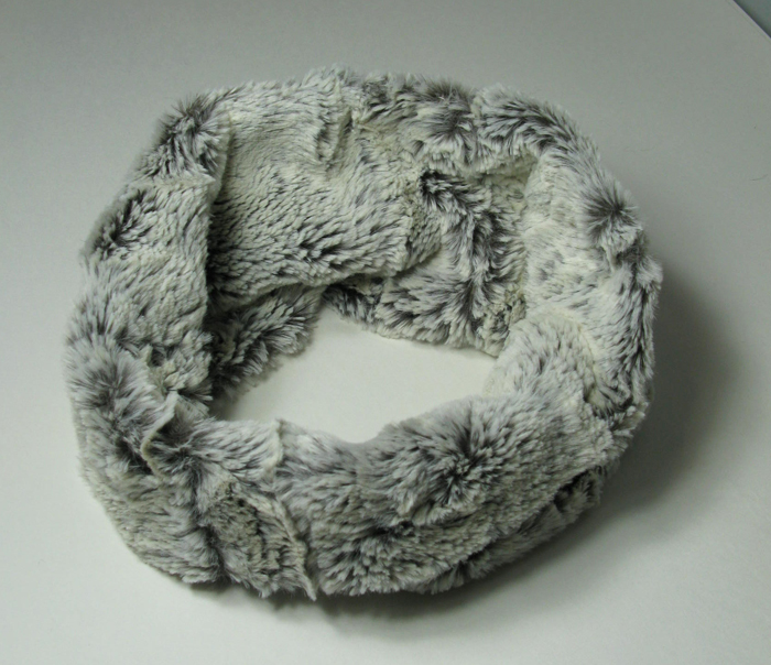 Faux Fur Headband/Neck Scarf in Khaki