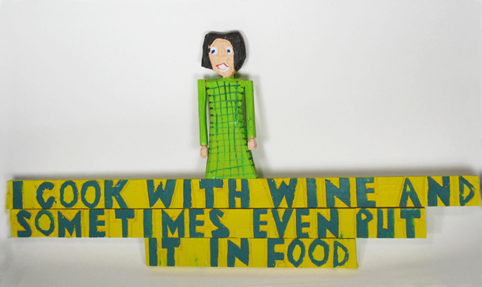 I Cook with Wine... Sign