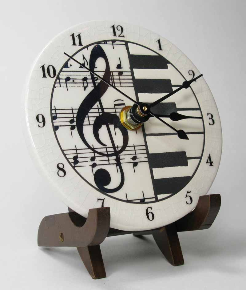 classical music clock on stand