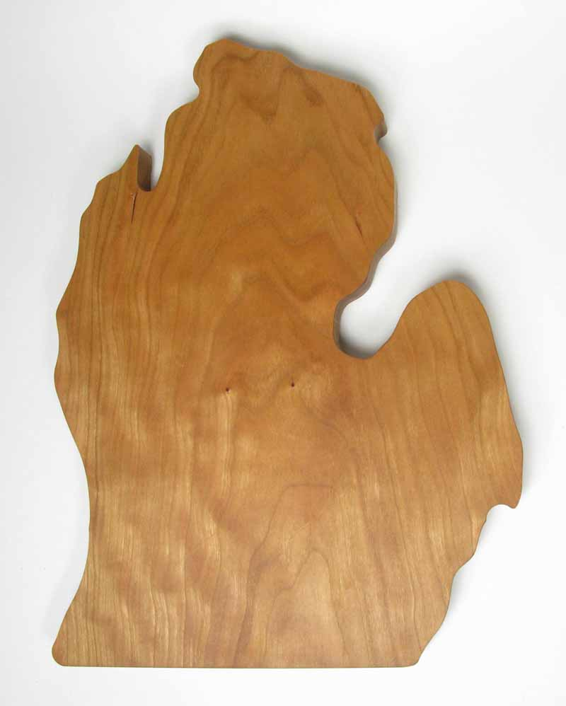 Michigan-Shaped Cutting Board - Cherry
