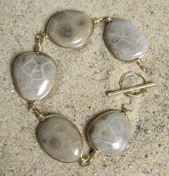 Petoskey Stones, 14k gold-filled