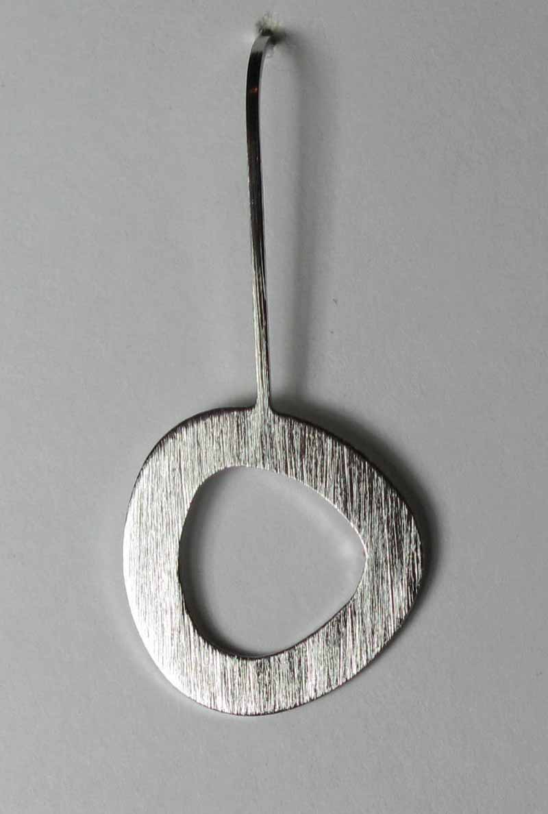Single Circle Earring in Stainless Steel