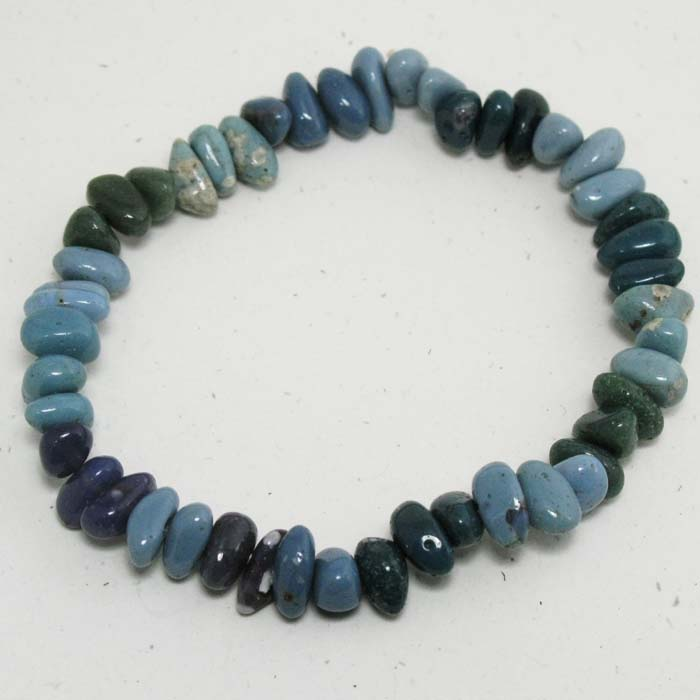 Stretchy Bracelet in Leland Blue Stones