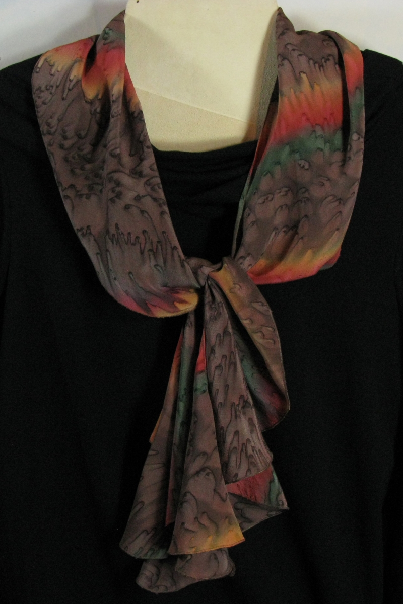 Silk Swirl Scarf in Chocolate