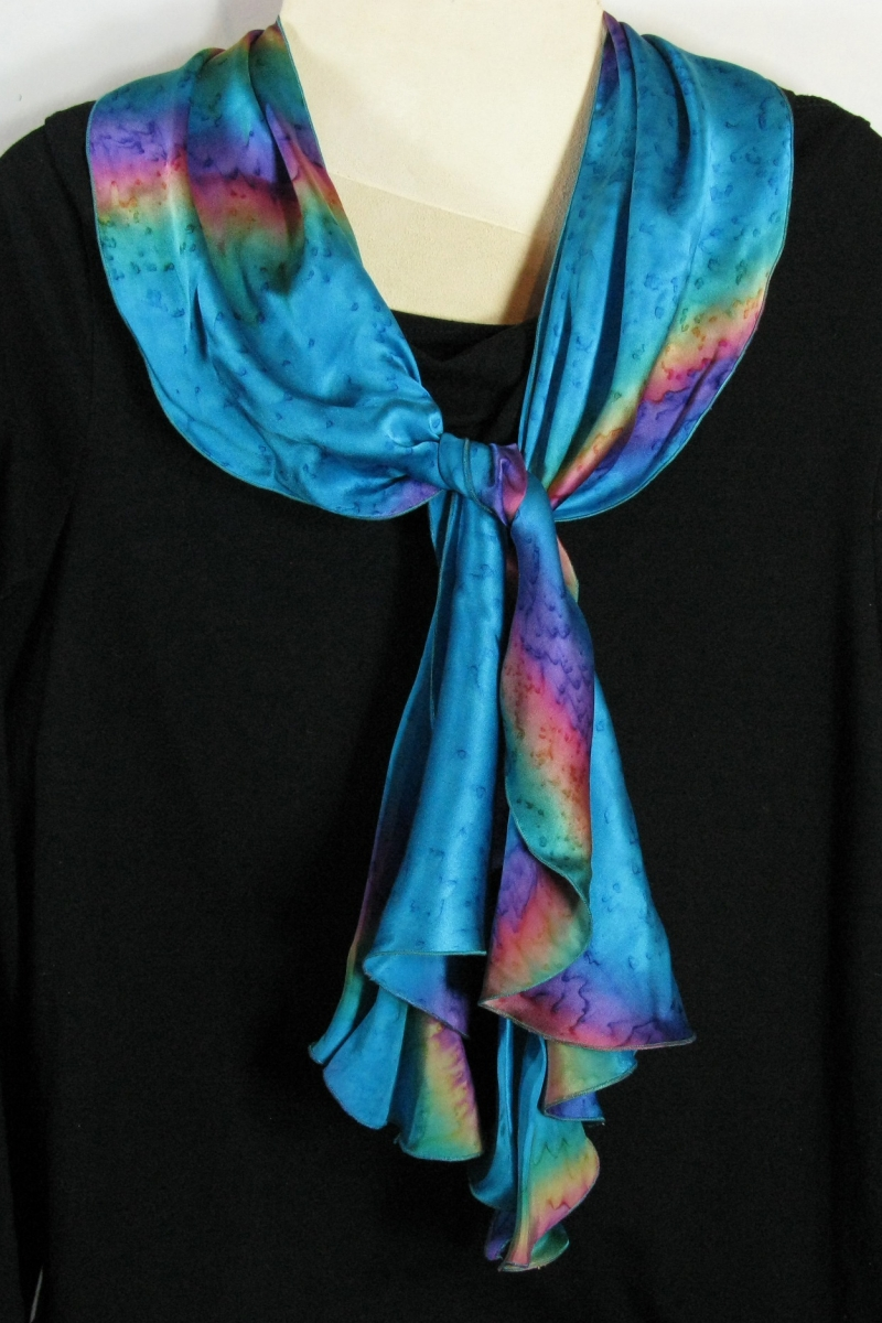Swirl Scarf in Turquoise