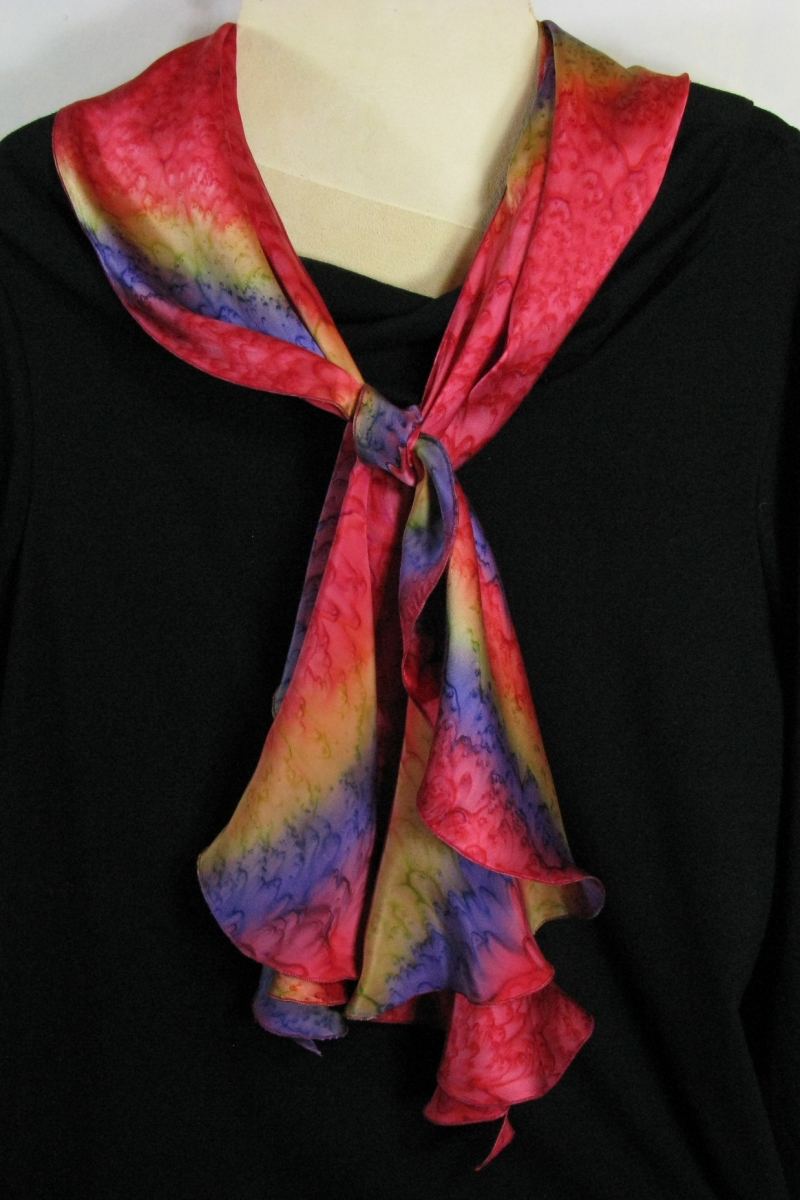 Silk Swirl Scarf in Red
