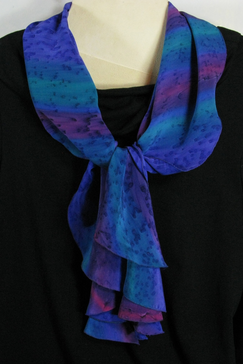 Silk Swirl Scarf in Purple
