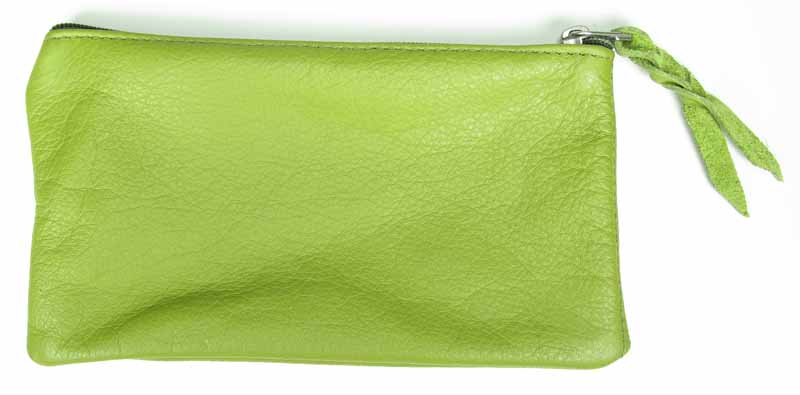 Zip-top Clutch in Avocado