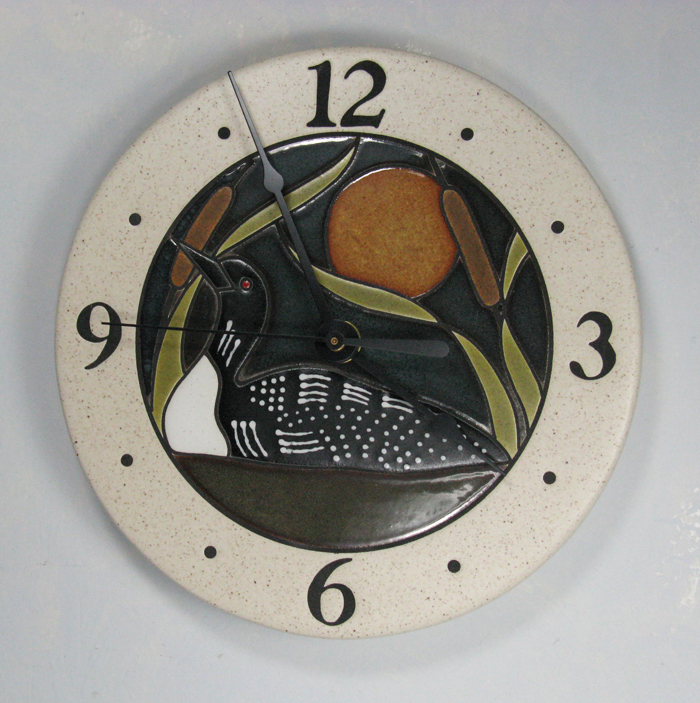 Loon Round Wall Clock