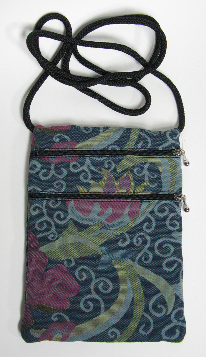 2-Zip Tapestry Bag - 7x10