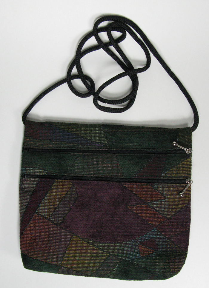 2-Zip Tapestry Bag - 7 1/2