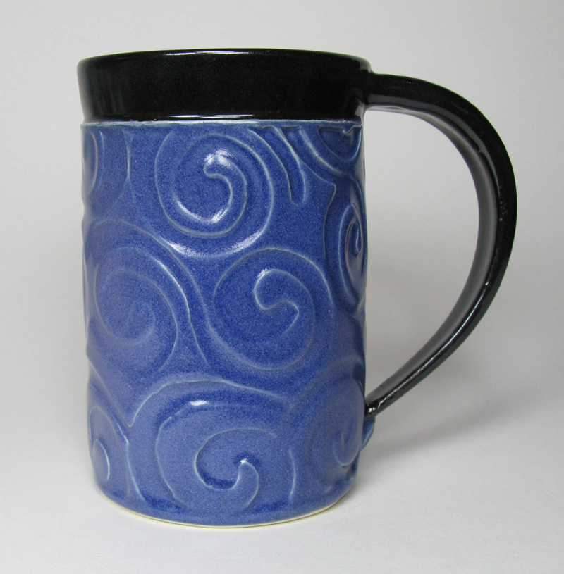 Ceramic Mug in Blue/Purple