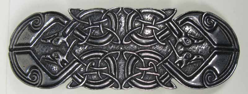 Celtic Peacock Barrette