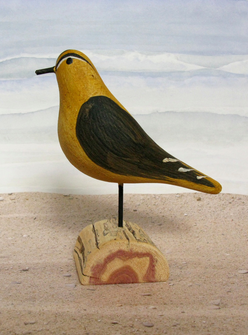 Carved Wood Goldfinch