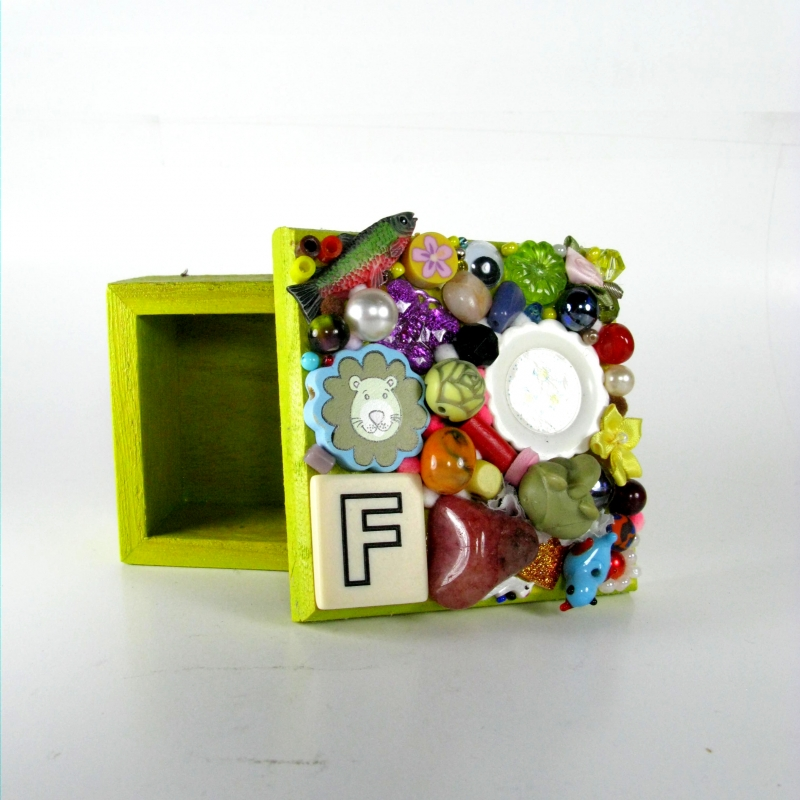 Small letter box in lime green