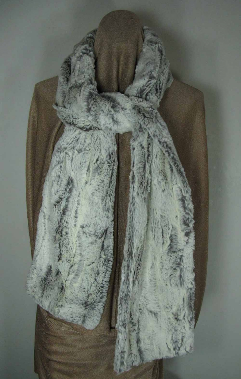 Faux Fur Scarf in Khaki Faux Fur