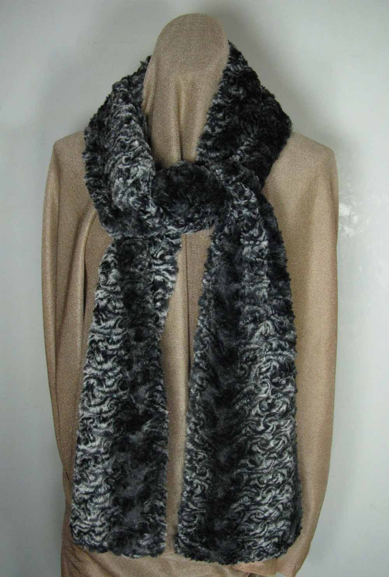 Faux Fur Scarf in Smokey Essence